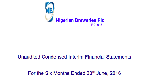 Nigeria Breweries: 2016 Half Year Results
