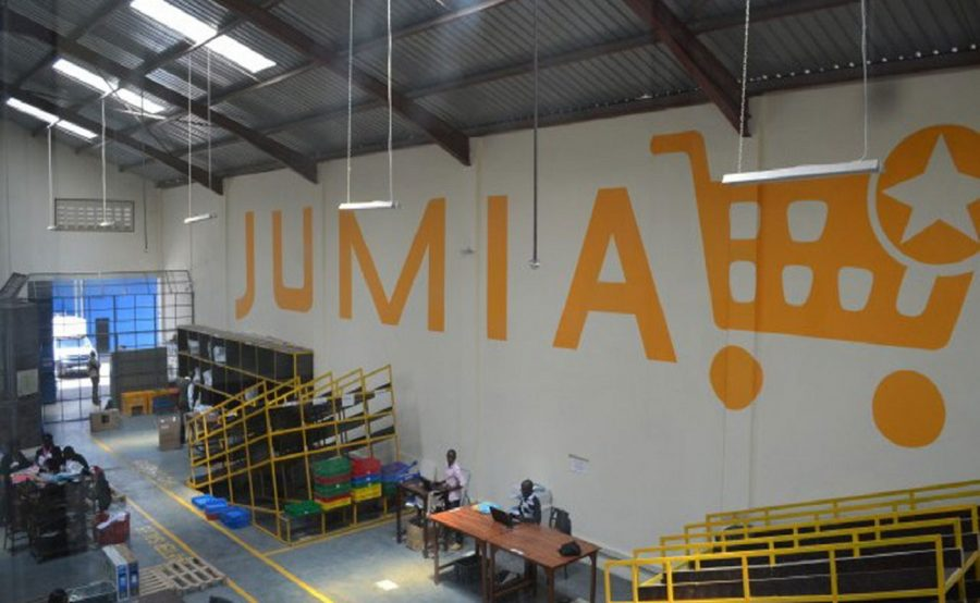 A Jumia warehouse, Police, Castle Logistics