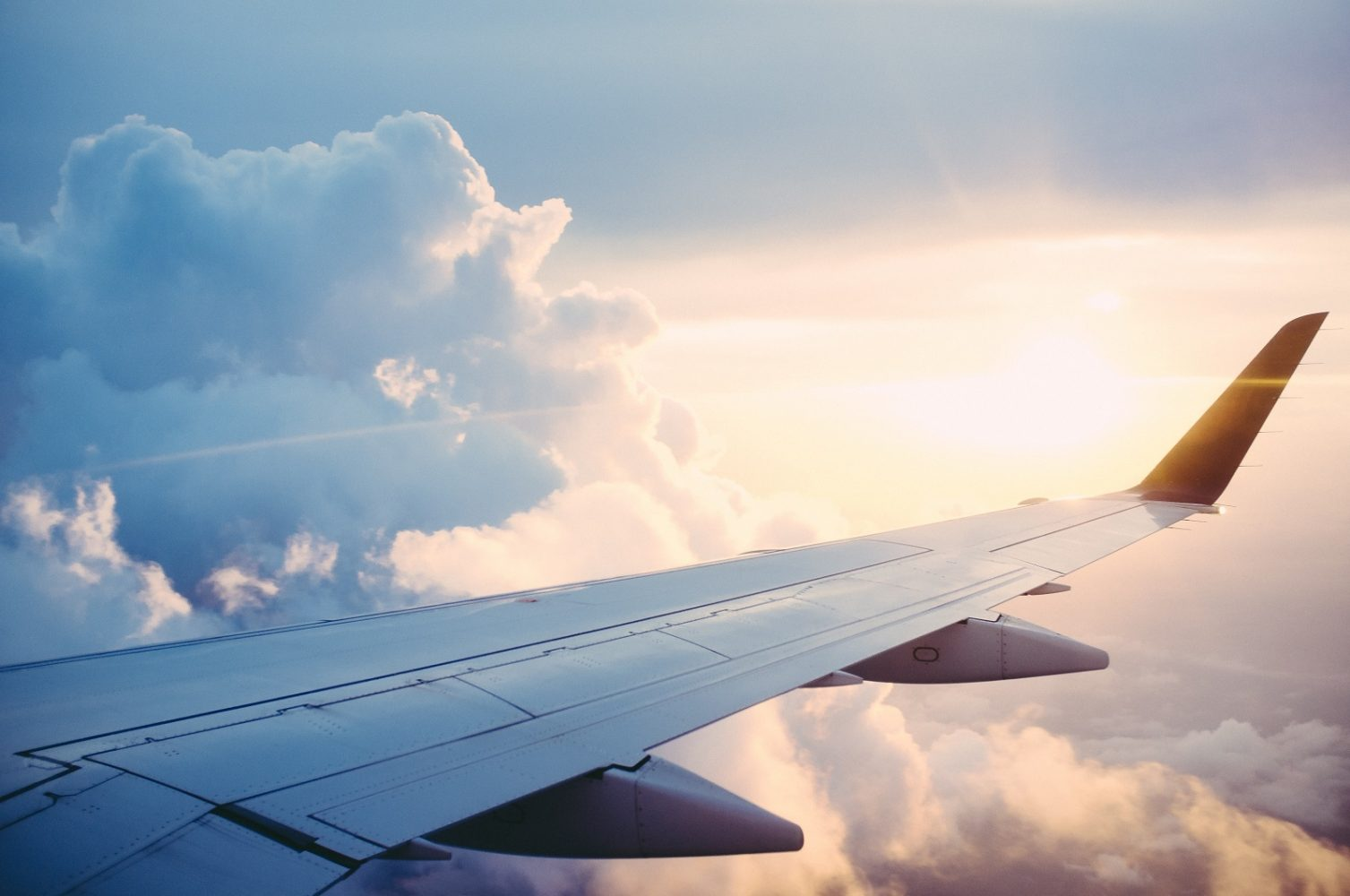 Airplane Wing. Photo by Ross Parmly on Unsplash
