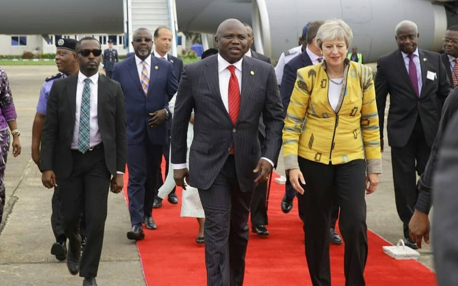 Theresa May and Ambode