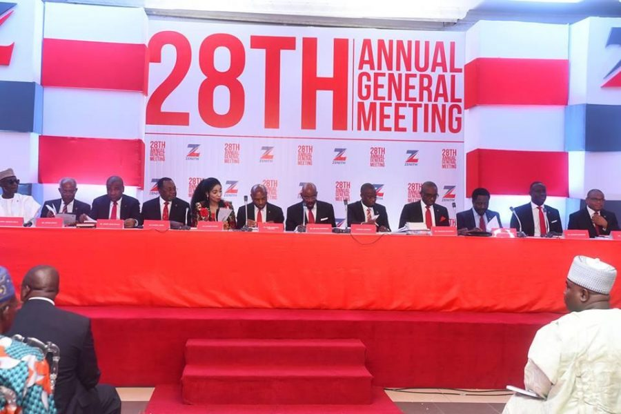Jim Ovia projects subdued growth for Nigeria's economy, Annual General Meeting Shareholders, Dividend payouts