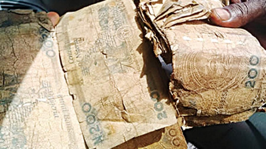 Mutilated naira notes, CBN