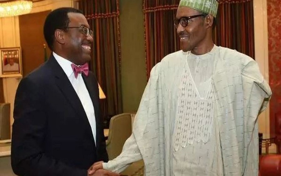 AfDB President, Akinwunmi Adesina gets Buhari's backing for Second term