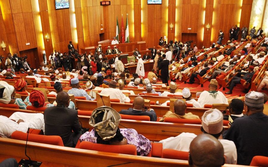National Assembly approves Federal Government's plan to borrow $11 billion in 2021, Senate urges FG to diversify from crude oil to natural gas production , Senate seeks textile importation ban , Senate receives six aviation sector bills from Buhari , PenCom: Constitute a board, NASS and pension operators tell FG, Nigeria's total debt now N33trn —Senate, Senate confirms appointment of board members for NDIC, law reform commission, Senate to confirm reappointment of Danbatta as NCC boss, Senate investigates claims of NELMCO, AEDC over govt asset, Senate Investigate Banks over customers exploitation and high fees, 2021 Budget: Senate sets motion for budget defense, commences 2020 review