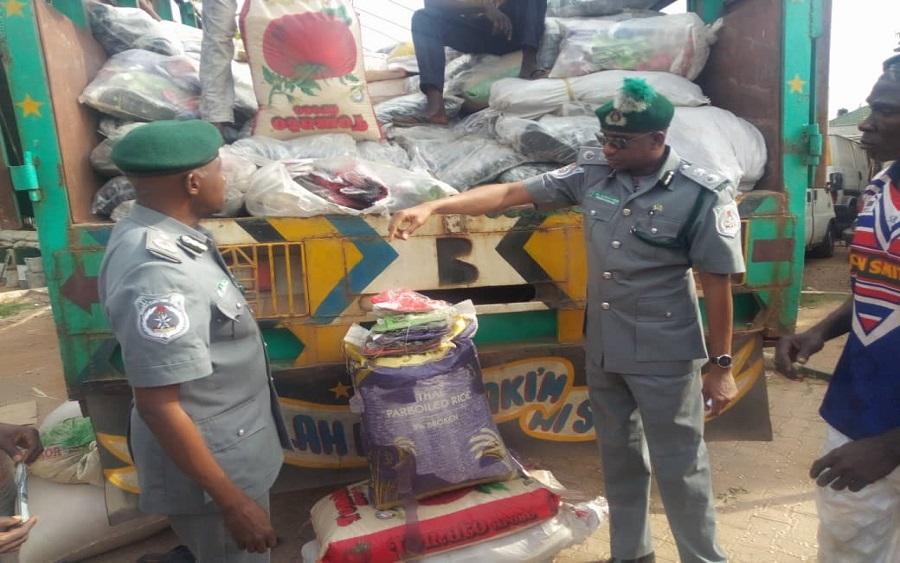 Amid border closure, Customs seize smuggled rice, other goods worth N43 million, Border closure bites as Customs raidbordertown main market over foreign rice