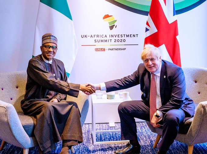 Buhari and boris johnson, Brexit: Buhari says Nigeria's trade relationship with UK lingers