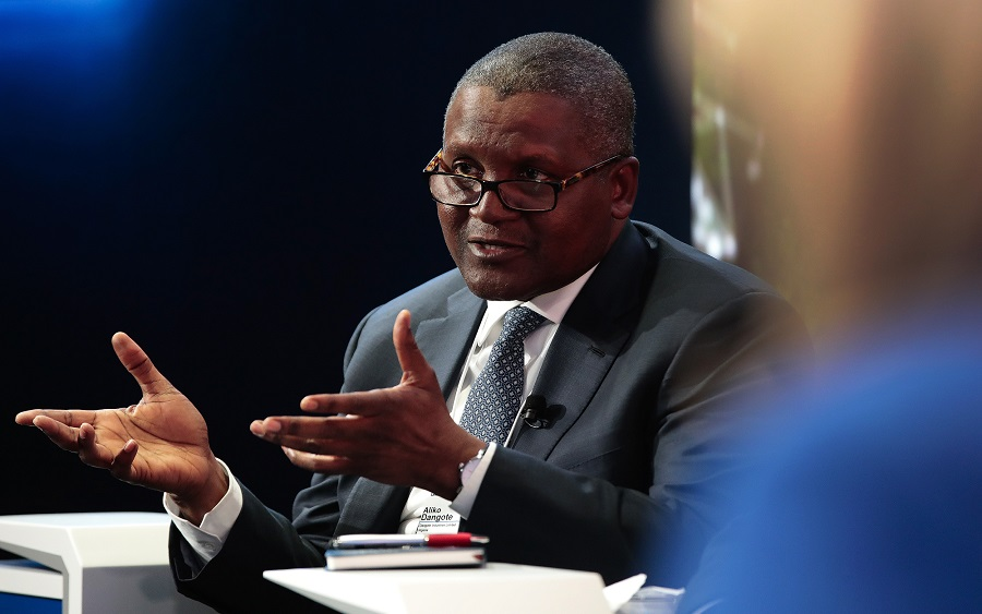 Dangote finally addresses how he amassed his wealth without father's money, Dangote talks about when he will buy Arsenal , Aliko Dangote defends border closure, reacts to Dangote Cement result, Can Nigeria's King Cement maker Dangote Cement withstanding COVID-19?, Aliko Dangote and his slide from $25 billion to $7 billion