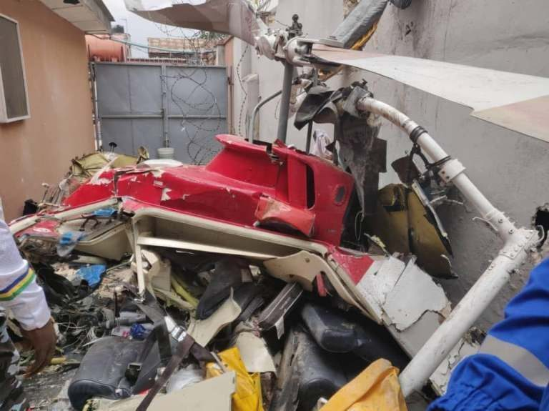 Helicopter crashes into building in Lagos, claims two lives