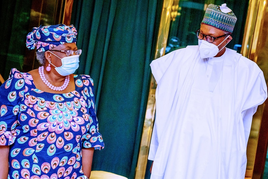 Buhari assures Okonjo-Iweala that the country will push until she emerges WTO DG