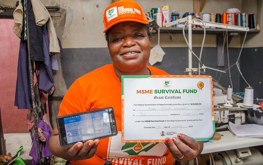 Survival funds: Ariaria Market artisans receive grants, 50,000 sign yp for Payroll Support fund