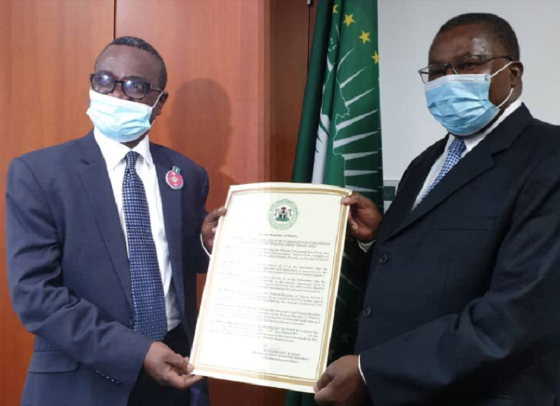 AfCFTA: Nigeria submits Instruments of Ratification